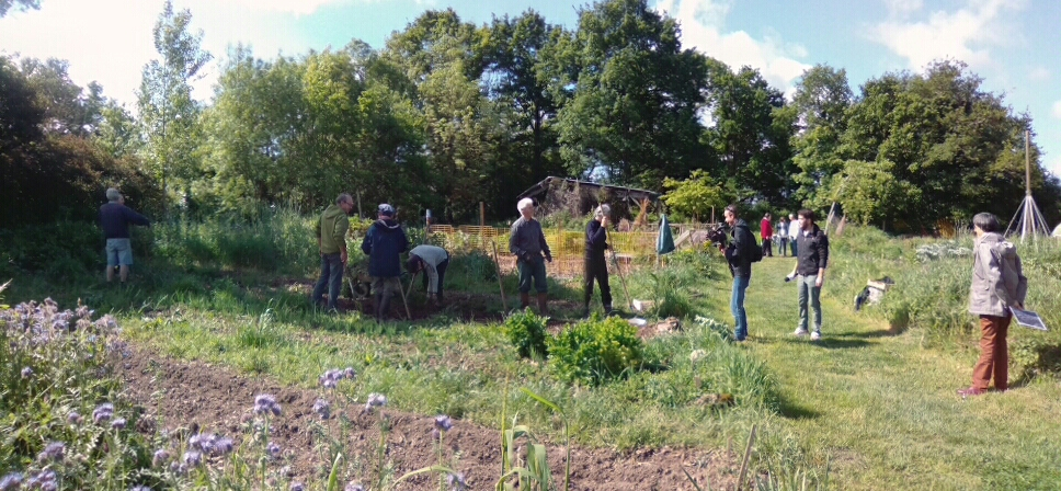 Emission France 3 au potager collectif
